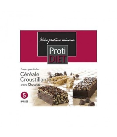 Barres protéinée céréale croustillantes chocolat Protidiet