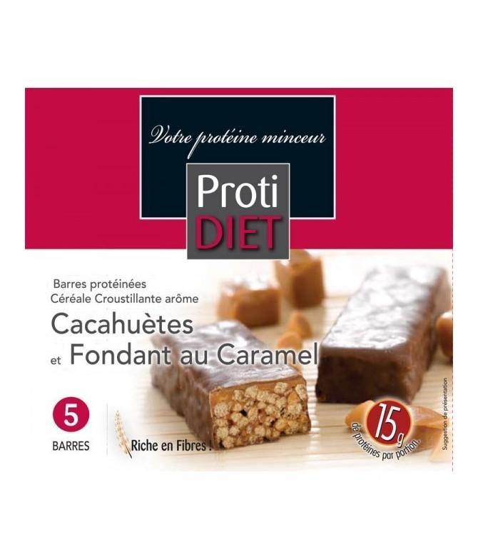 Barres protéinée cacahuète caramel