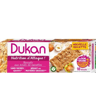 Biscuits de son d'avoine saveur Noisette Dukan