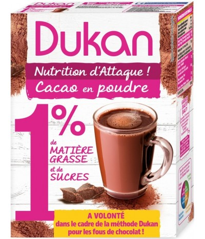 Cacao en poudre 1% fortement degraissé