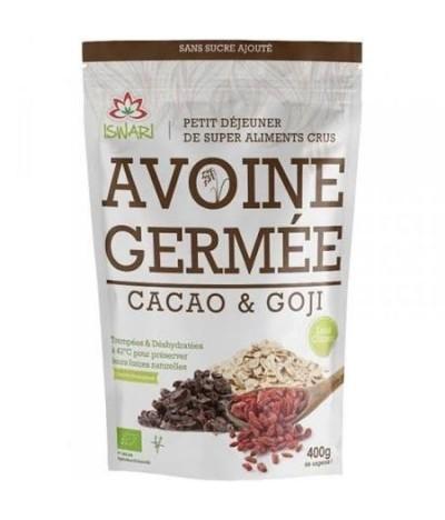 Avoine germée au cacao et baies de Goji