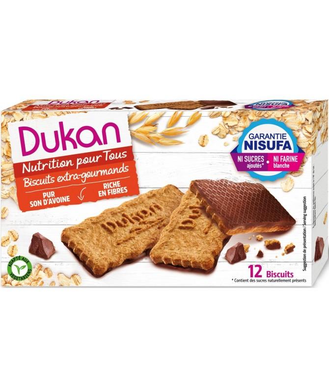 Biscuits de son d'avoine Nappés chocolat