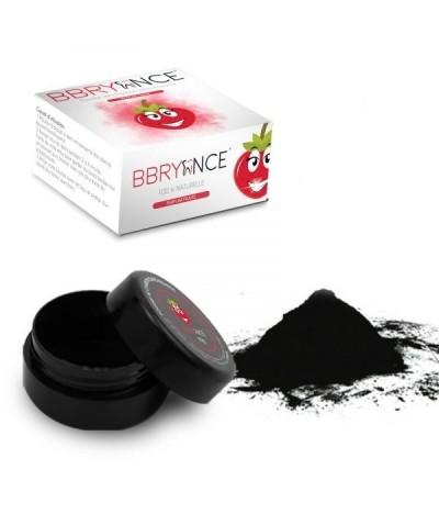 poudre de charbon goût fraise