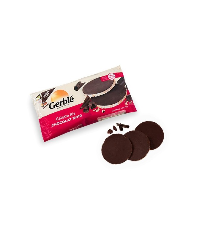 Galette de riz chocolat noir Gerblé