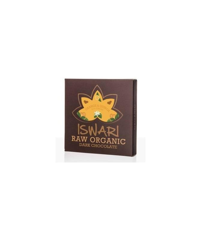 Tablette de chocolat cru Orange & Quinoa – BIO – 75g