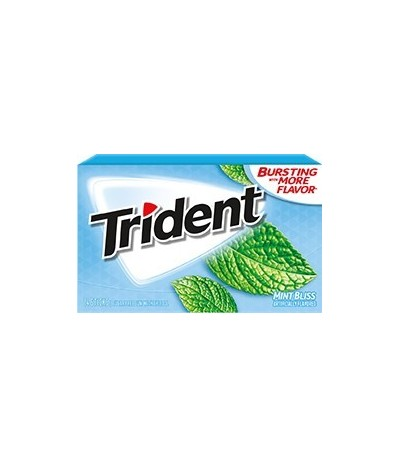 Chewing gum 0 sucres Trident menthe glaciale