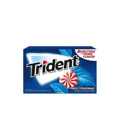 Chewing gum 0 sucres Trident menthe poivrée