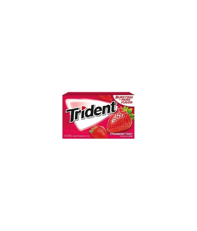 Chewing gum 0 sucres Trident fraise