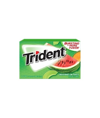 Chewing-gum 0 sucres Trident pastèque