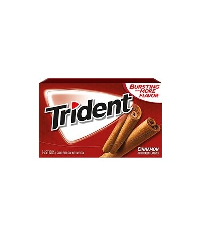 Chewing gum 0 sucres Trident Cannelle (BEST SELLER)