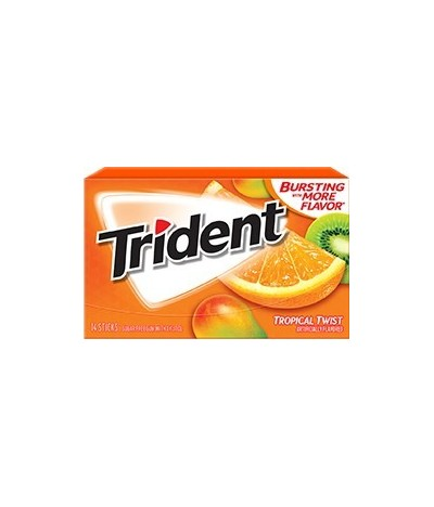 Chewing gum 0 sucres Trident fruits tropicaux