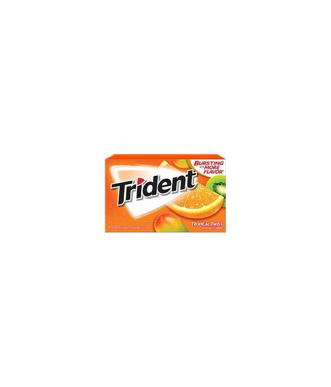 Chewing gum 0 sucres Trident fruits tropicaux