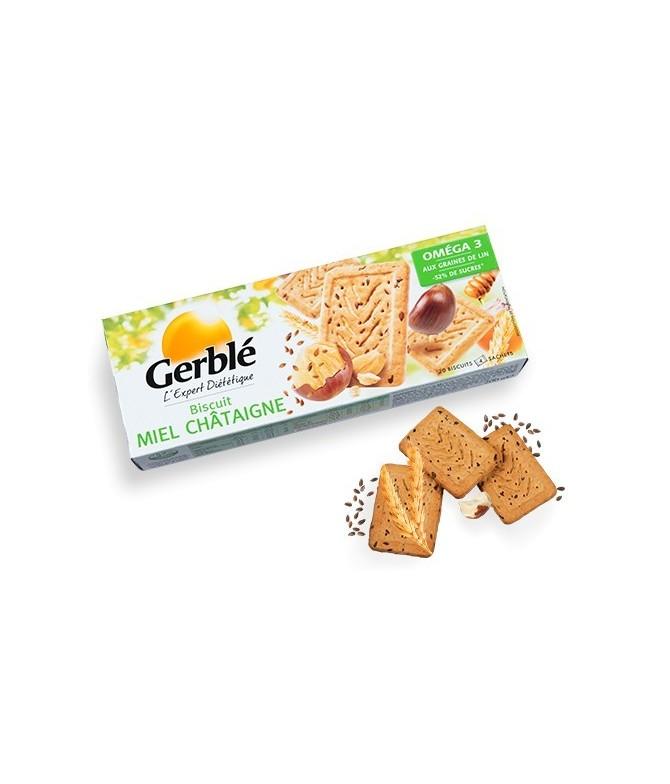 Biscuit miel chataigne graine de lin Gerblé