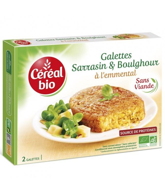 GALETTES SARRASIN & BOULGHOUR À L'EMMENTAL