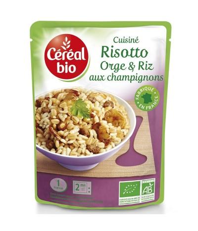 Doypack risotto orge riz et champignon céréal bio