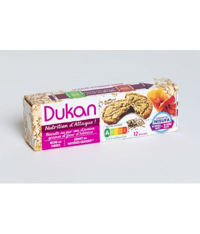 Biscuit rond aux 3 graines et Fleur -95 g Dukan