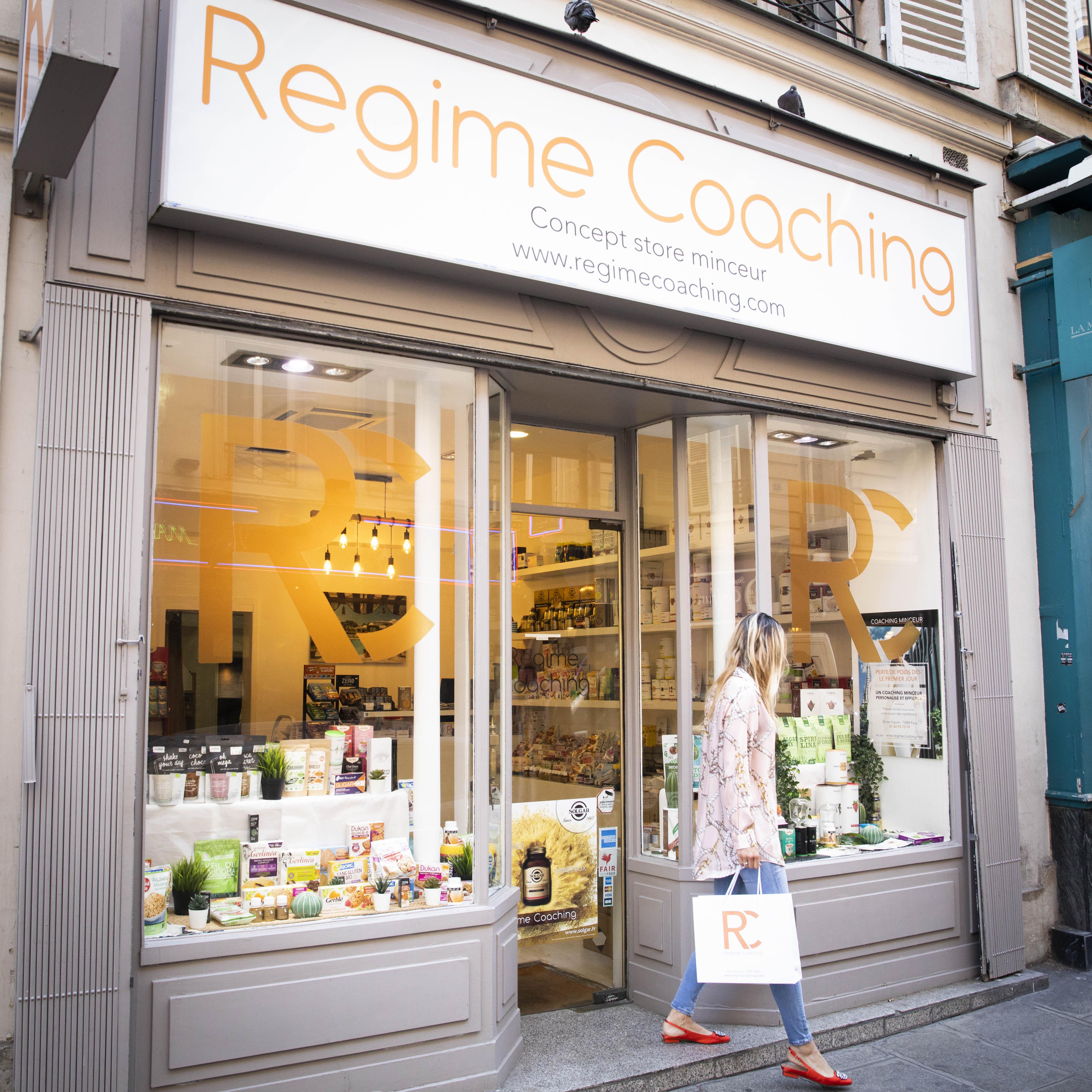 Devanture boutique Régime Coaching